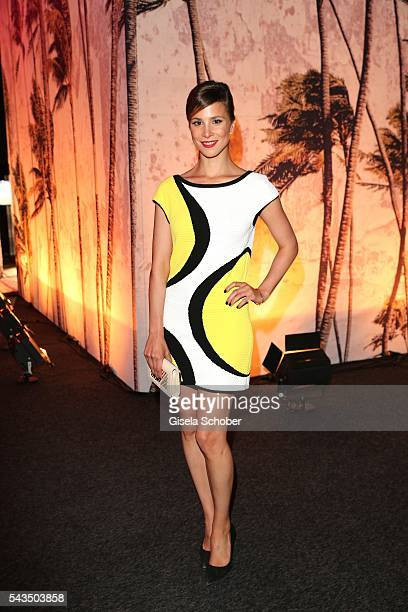 Aylin Tezel during the Marc Cain fashion show spring/summer 2017 at CITY CUBE Panorama Bar on June 28 2016 in Berlin Germany