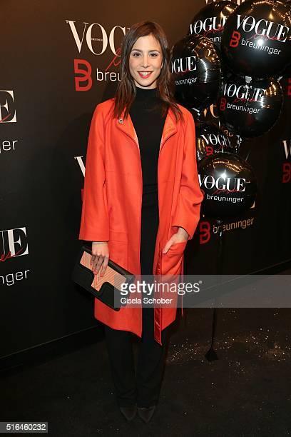 Aylin Tezel during the 'Vogue loves Breuninger' fashion event on March 18 2016 in Stuttgart Germany