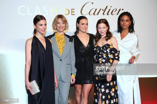 Aylin Tezel Heike Makatsch Lena Lademann Hannah Herzsprung and Lary wearing all jewelry by 'Clash de Cartier' during the Clash de Cartier event at...