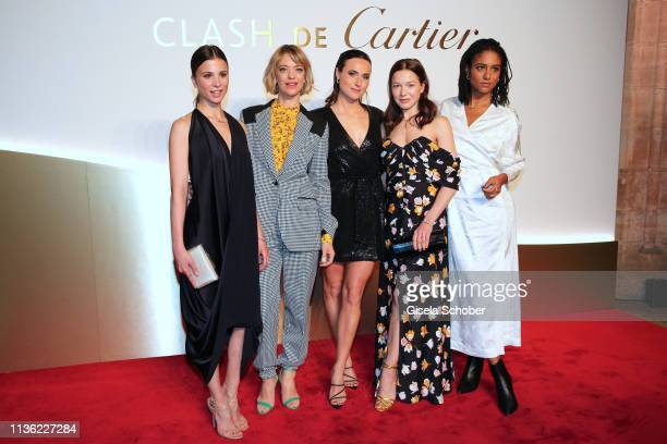 Aylin Tezel Heike Makatsch Lena Lademann Hannah Herzsprung Lary wearing all jewelry by 'Clash de Cartier' during the Clash de Cartier event at...
