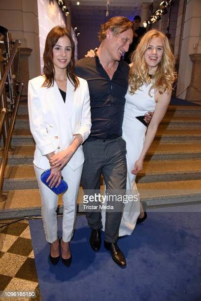 Aylin Tezel, Oliver Masucci and Larissa Marolt during the Blue Hour Party hosted by ARD during the 69th Berlinale International Film Festival at Haus...