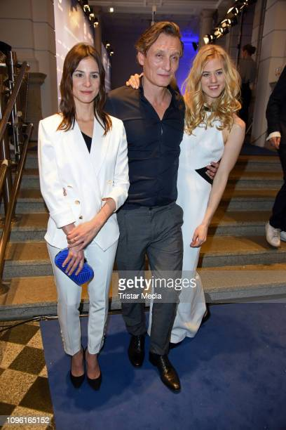 Aylin Tezel Oliver Masucci and Larissa Marolt during the Blue Hour Party hosted by ARD during the 69th Berlinale International Film Festival at Haus...
