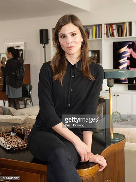 Aylin Tezel poses during a Magnum Double luncheon at Soho House on April 12, 2016 in Berlin, Germany.