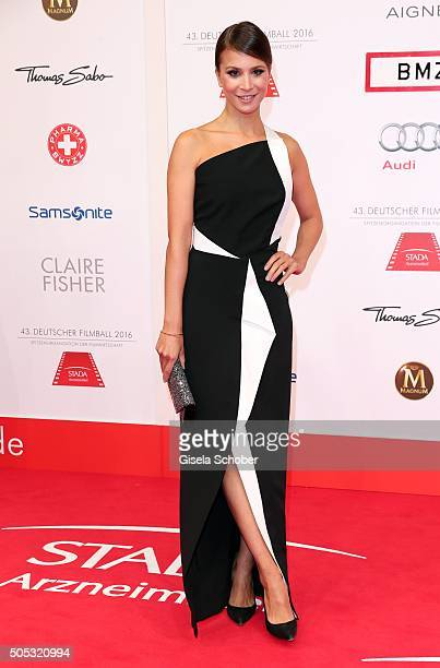 Aylin Tezel wearing a dress by Roland Mouret during the German Film Ball 2016 arrival at Hotel Bayerischer Hof on January 16 2016 in Munich Germany