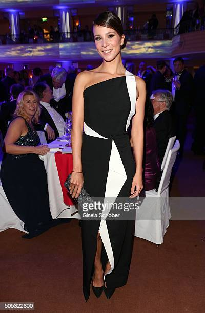 Aylin Tezel wearing a dress by Roland Mouret during the German Film Ball 2016 party at Hotel Bayerischer Hof on January 16 2016 in Munich Germany