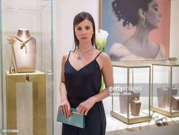 Aylin Tezel with Bulgari jewellery pictured at Bulgari Boutique on June 1, 2017 in Frankfurt am Main, Germany.