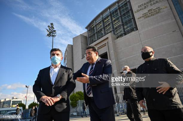 Ayman Nour , owner of the Egyptian opposition TV channel El-Sharq and Yasin Aktay , a Justice and Development Party member of the parliament and head...