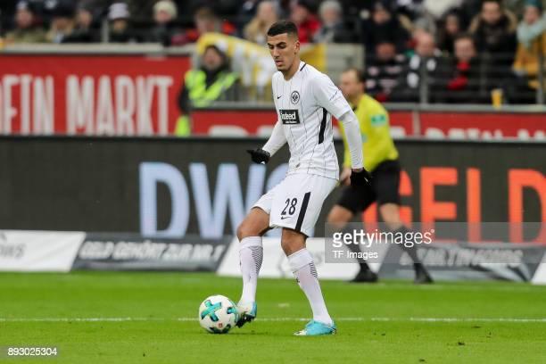 Aymane Barkok of Frankfurt controls the ball during the Bundesliga match between Eintracht Frankfurt and FC Bayern Muenchen at CommerzbankArena on...
