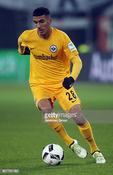 Aymane Barkok of Frankfurt in action during the Bundesliga match between FC Augsburg and Eintracht Frankfurt at WWK Arena on December 4 2016 in...