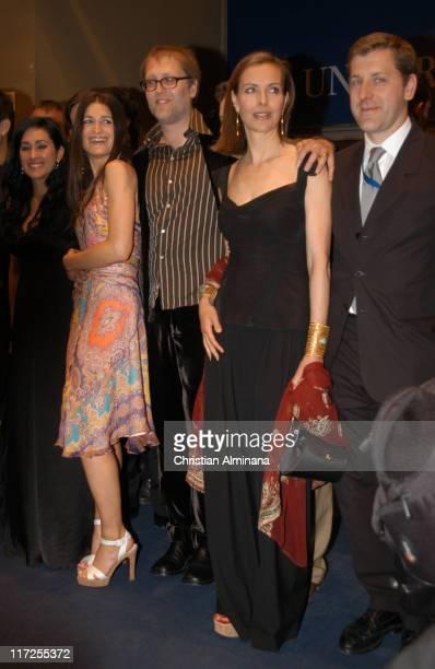Aymara Rovera Jorge Roman and Carole Bouquet during 2005 Cannes Film Festival Nordeste Premiere at Palais De Festival in Cannes France