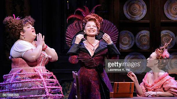 MAR 17 2015 Aymee Garcia as Charlotte Fran Drescher as Madame and Kaitlyn Davidson as Gabrielle in Rodgers Hammerstein's Cinderella at the Ahmanson...