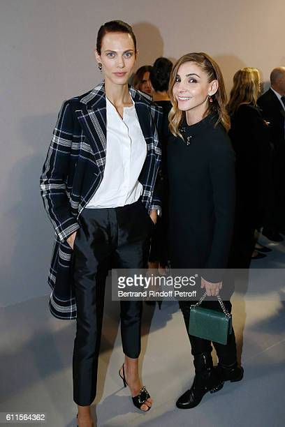 Aymeline Valade and Princess of Savoy Clotilde Courau attend the Christian Dior show as part of the Paris Fashion Week Womenswear Spring/Summer 2017...