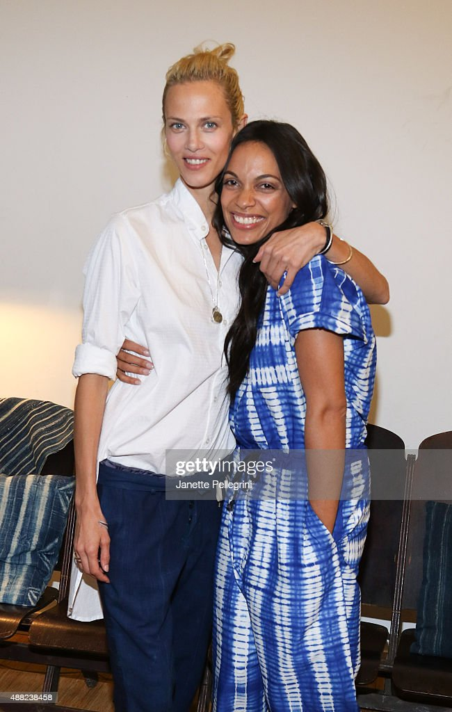 Aymeline Valade and Rosario Dawson attend Studio 189 Presentation at Spring 2016 New York Fashion Week:The Shows on September 14, 2015 in New York City.