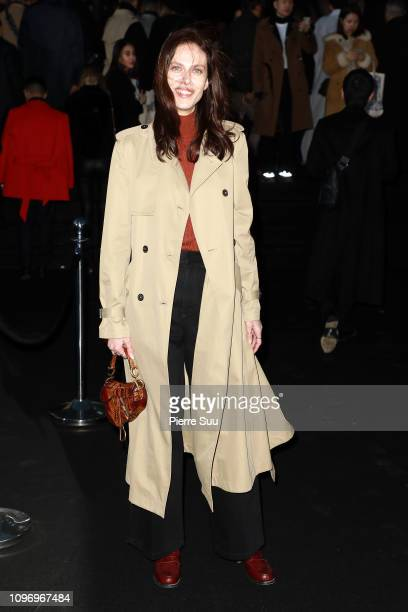 Aymeline Valade arrives at the Dior Homme Menswear Fall/Winter 20192020 show as part of Paris Fashion Week on January 18 2019 in Paris France