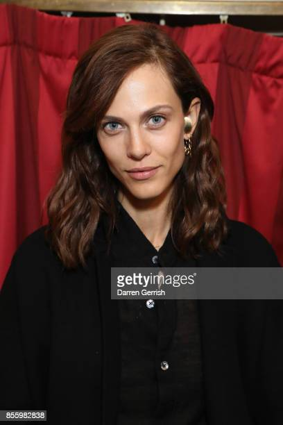 Aymeline Valade attends a dinner in Paris to celebrate Another Magazine A/W17 hosted by Vivienne Westwood, Andreas Kronthaler, Jefferson Hack,...