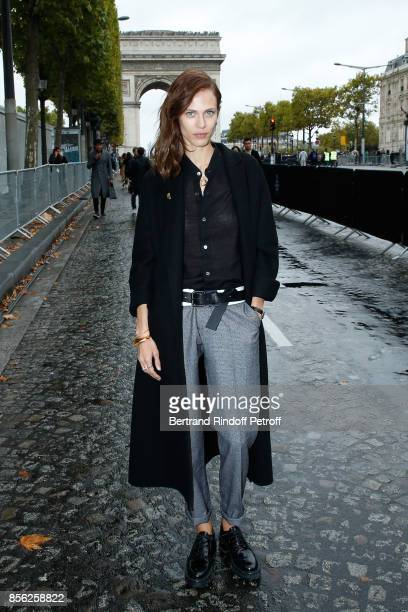 Aymeline Valade attends 'Le Defile L'Oreal Paris show' as part of the Paris Fashion Week Womenswear Spring/Summer 2018 on October 1 2017 in Paris...