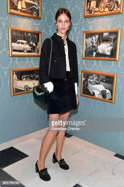 Aymeline Valade attends Miu Miu Cruise Collection show as part of Haute Couture Paris Fashion Week on July 2 2017 in Paris France