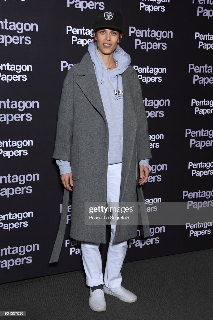 Aymeline Valade attends 'Pentagon Papers' (The Post) Premiere at Cinema UGC Normandie on January 13, 2018 in Paris, France.