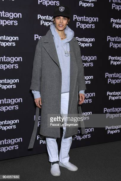 Aymeline Valade attends 'Pentagon Papers' Premiere at Cinema UGC Normandie on January 13 2018 in Paris France