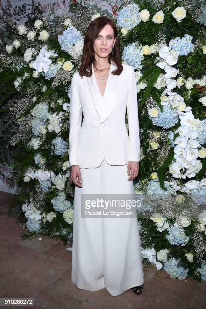 Aymeline Valade attends the 16th Sidaction as part of Paris Fashion Week on January 25 2018 in Paris France