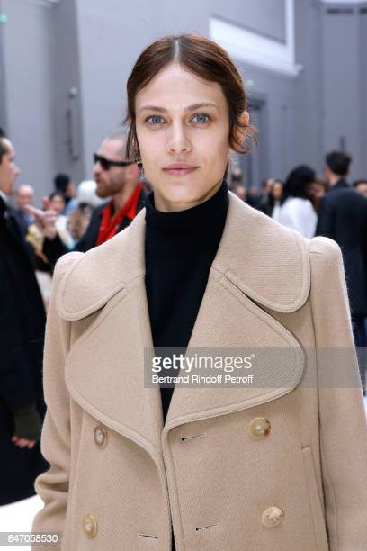 Aymeline Valade attends the Chloe show as part of the Paris Fashion Week Womenswear Fall/Winter 2017/2018 on March 2 2017 in Paris France