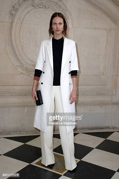 Aymeline Valade attends the Christian Dior Haute Couture Spring Summer 2017 show as part of Paris Fashion Week on January 23 2017 in Paris France