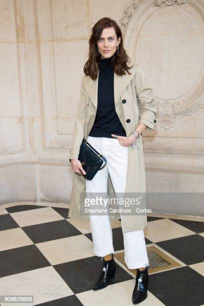 Aymeline Valade attends the Christian Dior Haute Couture Spring Summer 2018 show as part of Paris Fashion Week January 22 2018 in Paris France