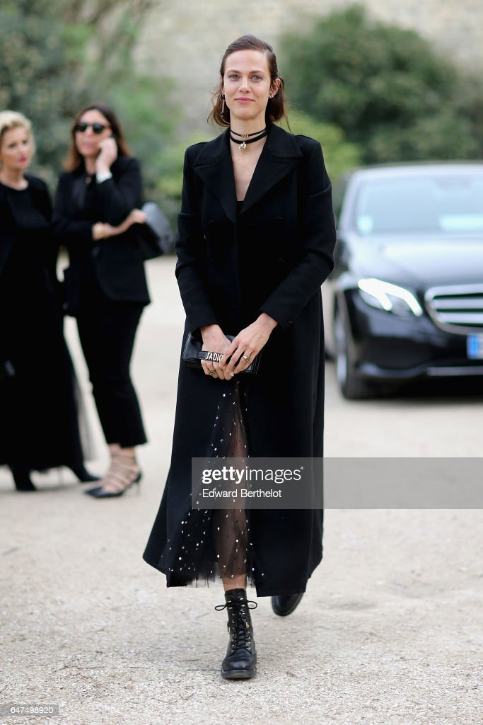 Aymeline Valade attends the Christian Dior show as part of the Paris Fashion Week Womenswear Fall/Winter 2017/2018 on March 3, 2017 in Paris, France.