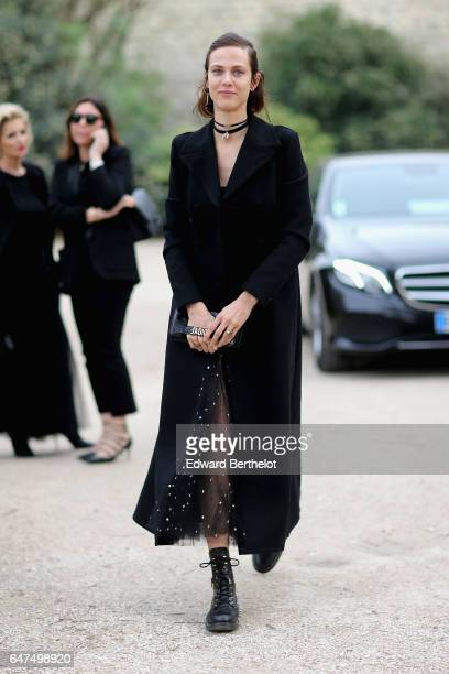Aymeline Valade attends the Christian Dior show as part of the Paris Fashion Week Womenswear Fall/Winter 2017/2018 on March 3 2017 in Paris France