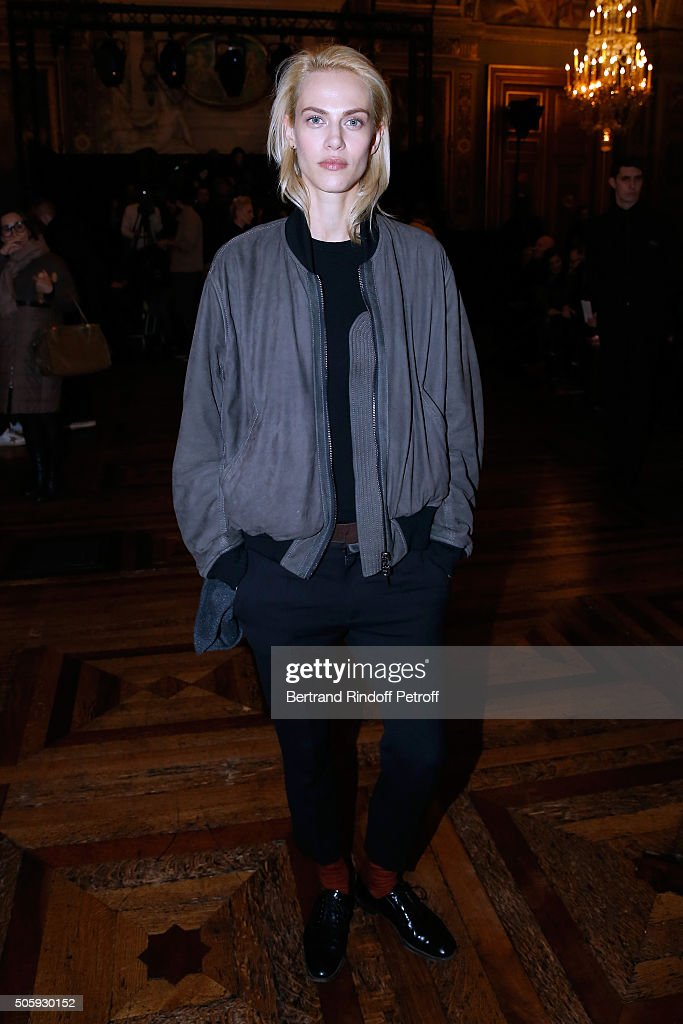 Haider Ackermann : Front Row - Paris Fashion Week - Menswear F/W 2016-2017