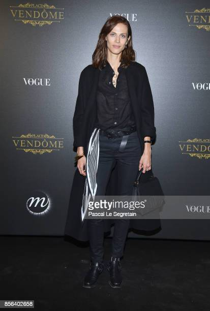 Aymeline Valade attends the Irving Penn Exhibition Private Viewing Hosted by Vogue as part of the Paris Fashion Week Womenswear Spring/Summer 2018 on...