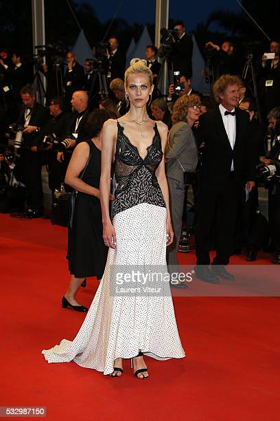 Aymeline Valade attends the 'It's Only The End Of The World ' Premiere during the 69th annual Cannes Film Festival at the Palais des Festivals on May...