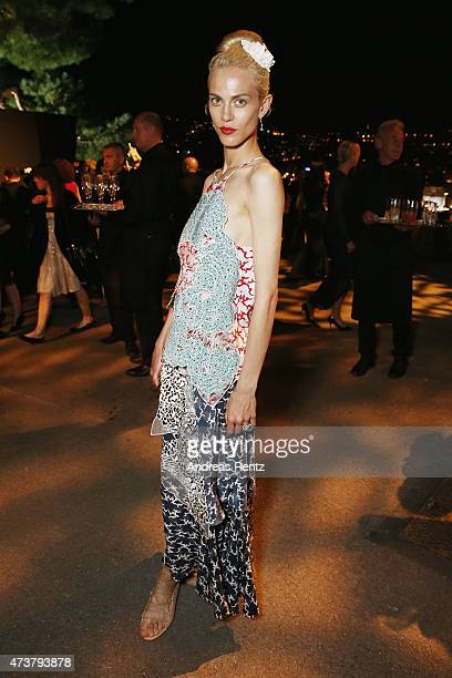 Aymeline Valade attends the Kering Official Cannes Dinner at Place de la Castre on May 17, 2015 in Cannes, France.on May 17, 2015 in Cannes, France.