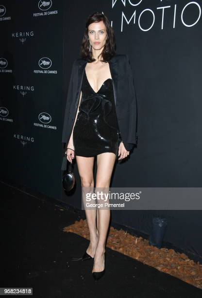 Aymeline Valade attends the Kering Women In Motion dinner during the 71st annual Cannes Film Festival at Place de la Castre on May 13, 2018 in...