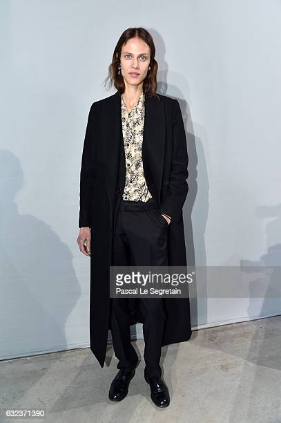 Aymeline Valade attends the Lanvin Menswear Fall/Winter 20172018 show as part of Paris Fashion Week on January 22 2017 in Paris France
