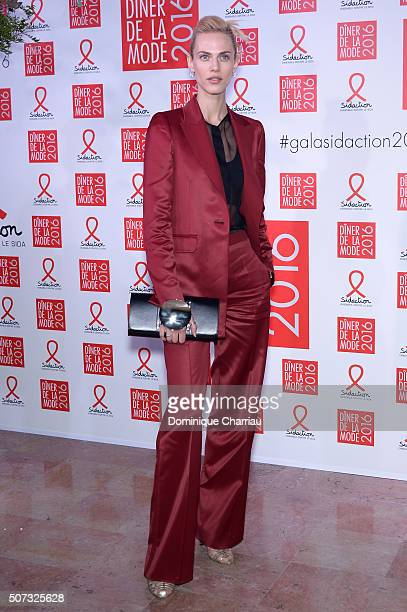 Aymeline Valade attends the Sidaction Gala Dinner 2016 as part of Paris Fashion Week on January 28 2016 in Paris France