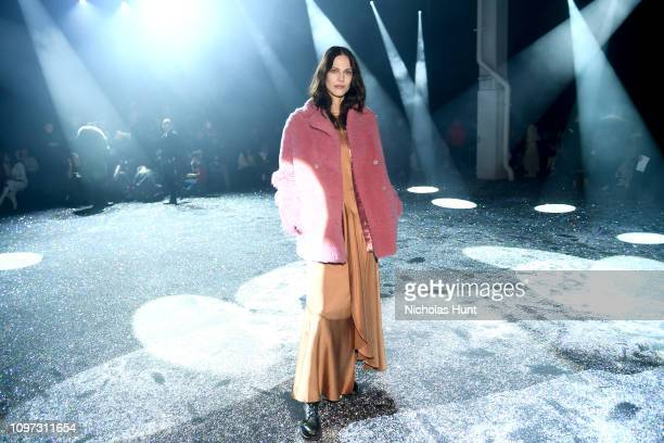 Aymeline Valade attends the Sies Marjan FW'19 Runway Show at SIR Stage on February 10 2019 in New York City