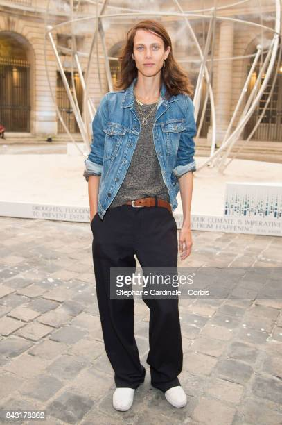 Aymeline Valade attends the 'The Droplet by The Harmonist' Launch Party at Hotel de la Monnaie on September 5 2017 in Paris France