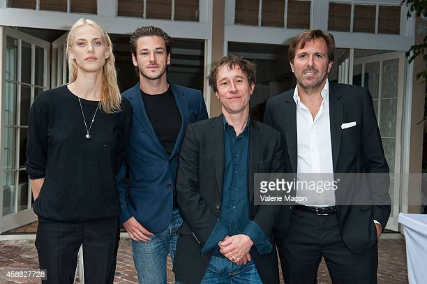 Aymeline Valade Gaspard Ulliel Bertrand Bonello and Christophe Lambert attend The Consul General Of France Mr Axel Cruau ceremony to honor The...