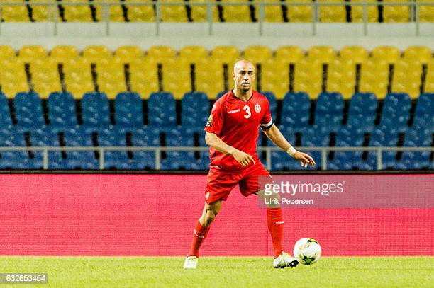 Aymen Abdennour of Tunisia during the African Nations Cup match between Zimbabwe and Tunisia on January 23 2017 in Libreville Gabon