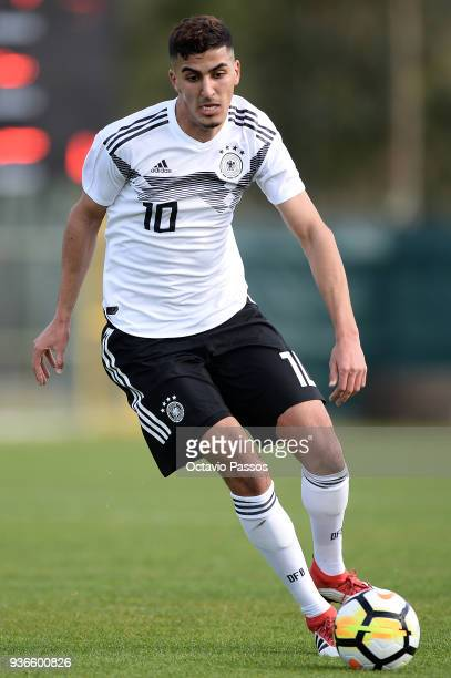 Aymen Barkok of Germany in action during the Under 20 International Friendly match between U20 of Portugal and U20 of Germany at stadium Municipal...