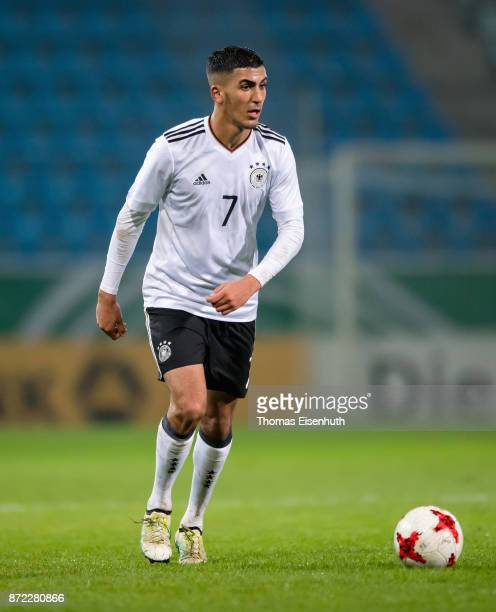 Aymen Barkok of Germany plays the ball during the Under 20 International Friendly match between U20 of Germany and U20 of Italy at community4you...