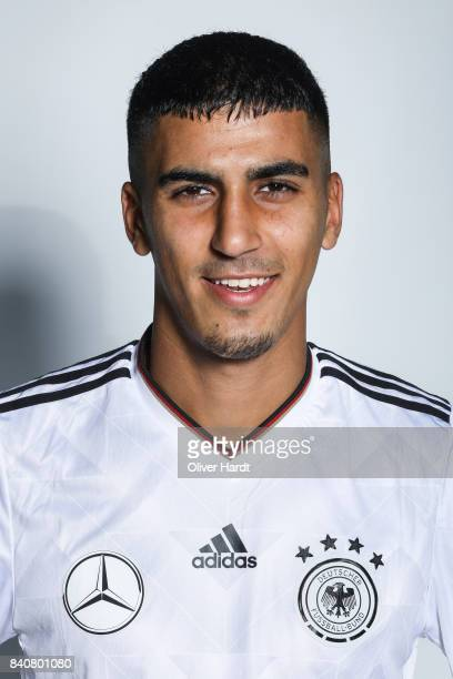 Aymen Barkok of Germany poses for the Germany U21 Team Presentation on August 29 2017 in Harsewinkel Germany
