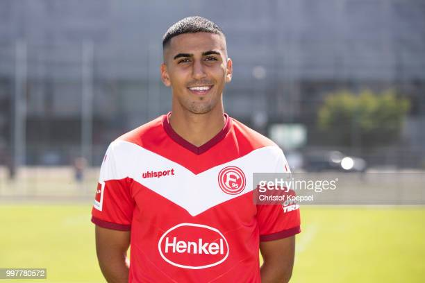Aymen Barkok poses during the team presentation at Esprit Arena on July 13 2018 in Duesseldorf Germany
