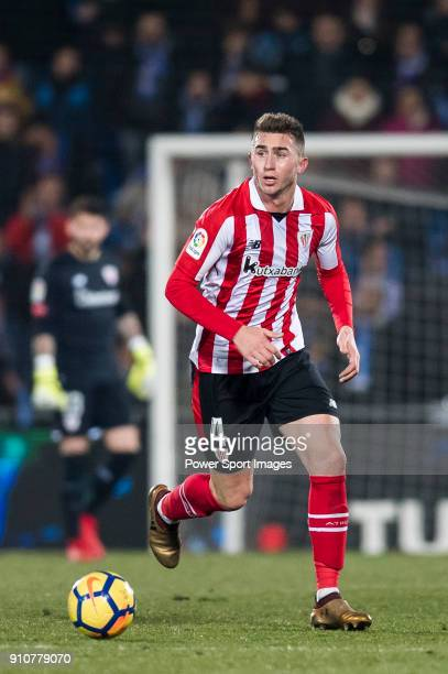 Aymeric Laporte of Athletic Club de Bilbao in action during the La Liga 201718 match between Getafe CF and Athletic Club de Bilbao at Coliseum...