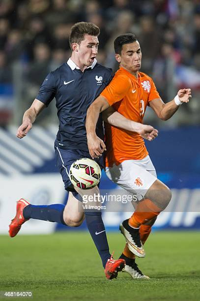 Aymeric Laporte of France U21 Anwar El Ghazi of Netherland U21 during the International friendly match between France U21 and Netherlands U21 on...
