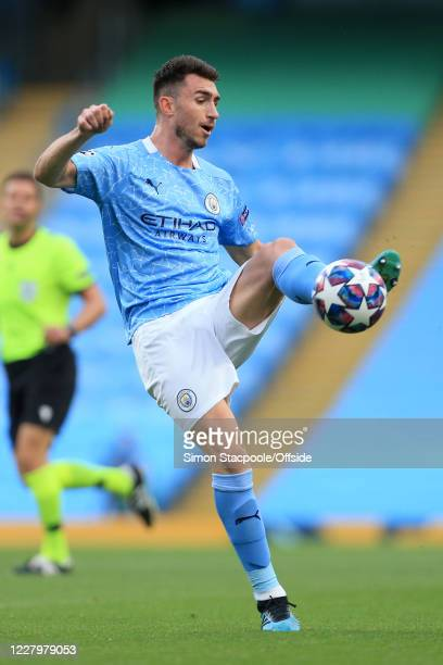 Aymeric Laporte of Man City in action during the UEFA Champions League round of 16 second leg match between Manchester City and Real Madrid at Etihad...