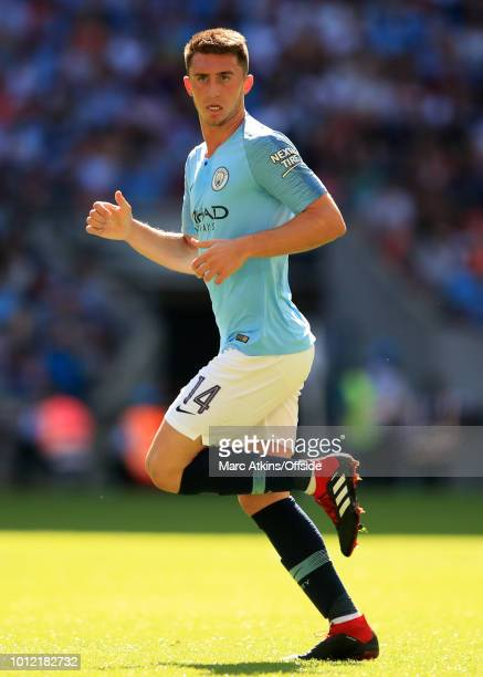 Aymeric Laporte of Manchester City during the FA Community Shield between Manchester City and Chelsea at Wembley Stadium on August 5 2018 in London...