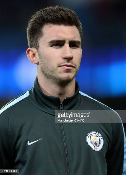 Aymeric Laporte of Manchester City during the UEFA Champions League Round of 16 Second Leg match between Manchester City and FC Basel at Etihad...