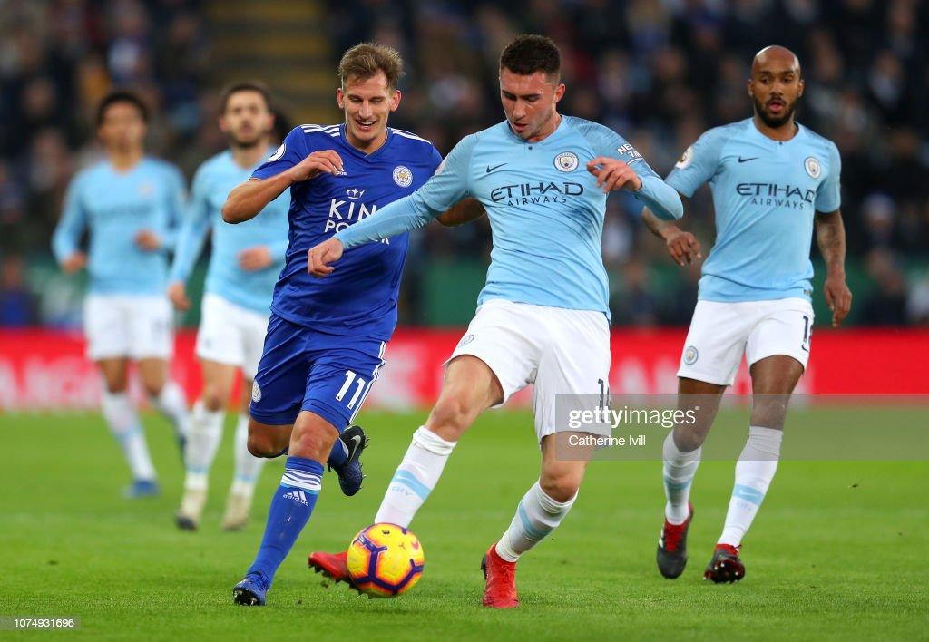 Leicester City v Manchester City - Premier League : Fotografía de noticias